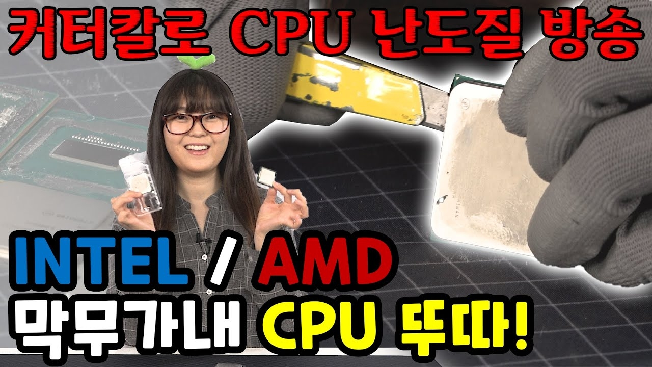 본격 CPU 난도질? 컴알못의 INTEL과 AMD CPU 막무가내 뚜따! [브로리퀘스트]