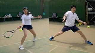 프로출신 아내 vs 국제심판 남편의 테니스 대결
