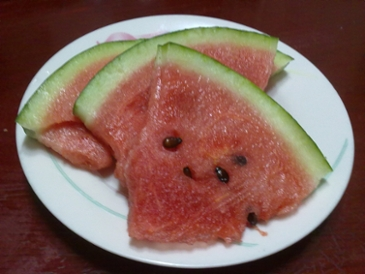 여름 제철 과일 디저트 수박입니다.
