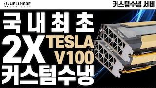 국내최초!! Tesla V100 32GB * 2 커스텀 수냉 서버 조립기!(i9  10900X + Tesla V100)