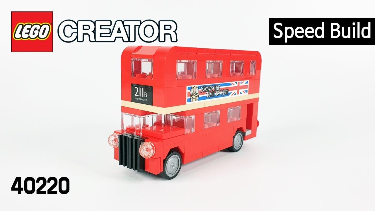 레고 크리에이터 40220 런던 버스(Creator London Bus)  스피드빌드_Speed Build_레고매니아_LEGO Mania