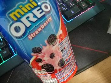 간식거리... 오레오 미니...딸기맛