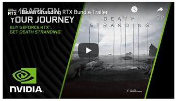 엔비디아, RTX 그래픽 카드 구입 시 '데스 스트랜딩' PC판 무료 증정