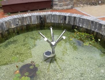 연못이 된 분수대