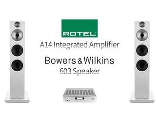[리뷰] 유튜브로 만나는 하이파이의 신세계 Rotel A14 + B&W 603 Speaker