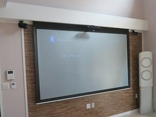 폴크오디오 TL1600 세틀라이트 스피커와 데논 AVR-X250Bt 엘지 미니빔 조합 홈시네마