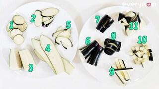 [ENG] 가지를 써는 11가지 방법! 왜 이렇게 까지...How to handle eggplants [에브리맘]