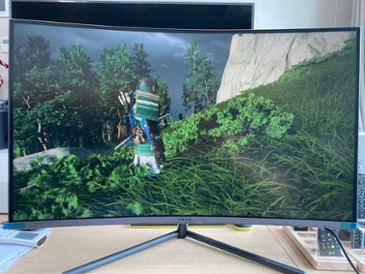 삼성 4k UHD 커브드 모니터 U32R590 사용기