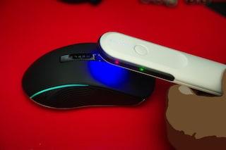 휴대용살균기로 마우스, 안경 등 살균의 일상화 : 엑슬비젼 UV살균기 Sterile V HSG-S001