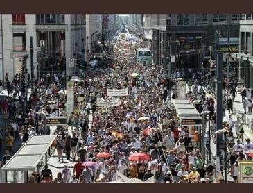 독일 베를린에서도 일어나는 시위
