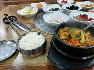 [먹거리 소개# 322] 광주에서 먹은 맛난 애호박찌게