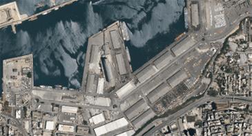 베이루트 폭발 현장 위성사진 전후
