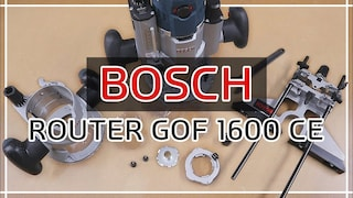 BOSCH ROUTER GOF 1600 CE, Fixed base, Guide Review 보쉬루터,보쉬라우터