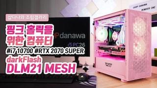 핑크 홀릭을 위한 컴퓨터 - darkFlash DLM21 MESH 핑크