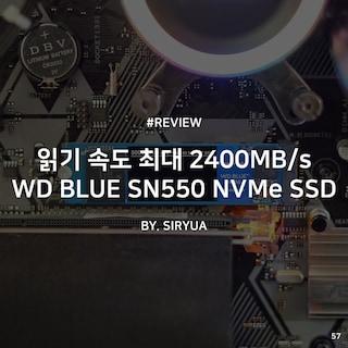 최대 읽기 속도 2,400MB/s WD BLUE SN550 NVMe SSD