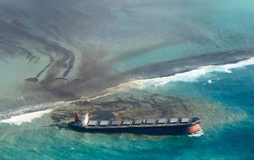 인도양 남부 천혜의 섬 모리셔스 해역에 기름재앙 뿌린 일본 화물선