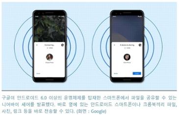 구글, '니어바이 셰어' 발표··· 안드로이드용 근거리 파일 전송 기능