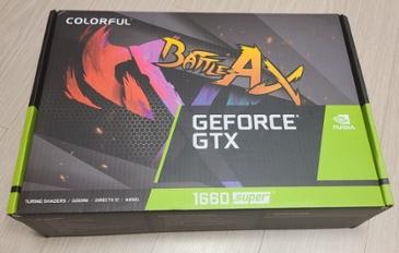 가성비 그래픽카드 COLORFUL 지포스 GTX1660 SUPER 토마호크 D6 6GB 개봉기