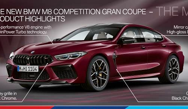 BMW M8도 4도어 모델 나왔다