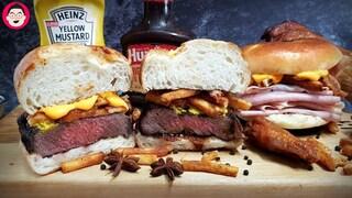 스테이크 햄버거 햄폭탄 샌드위치 만들어 봤어요. arby's