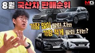 """""""대체 무슨 일이.."""" 2020년 8월 국산차 판매량...그랜저·K5·쏘렌토·아반떼·XM3 '폭락'"""