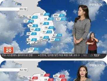 날씨 찬바람에 종일 '쌀쌀'.동해안 가끔 비 강원 산간 첫눈 가능성