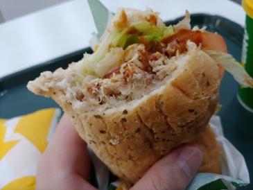 오늘의 점심 - 서브웨이 로티세리 치킨 샌드위치 30cm (10,100원)