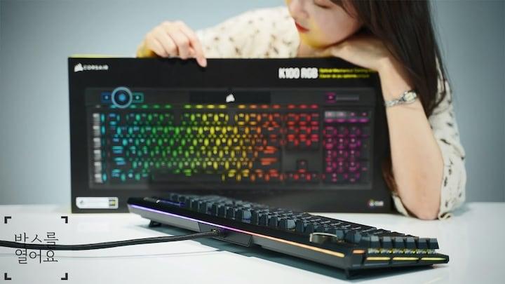 기계식 키보드의 차세대 왕, 커세어 K100 RGB 개봉했어요! Corsair K100 RGB Keyboard unboxing ASMR [박스를 열어요]