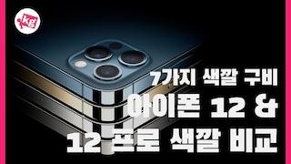 결정 마지막 순간!! 아이폰 12 & 12 프로 색깔 7가지 비교!! [4K]