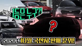 '그랜저가 밀렸다고?!' 2020년 10월 국산차 판매 순위...기아차의 역습 시작됐다!!!