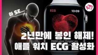 2년만에 봉인 해제!! 애플 워치 ECG 국내 정식 활성화 [4K]