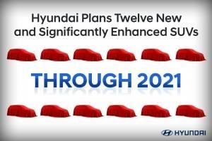 현대차 2021년 말까지 12개 SUV 신차 출시. 순수 전기차와 고성능 중심