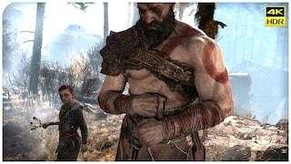 PS5로 돌린 PS4 독점 게임 영상 4K (갓오브워4, 고오쓰, 데이즈곤)