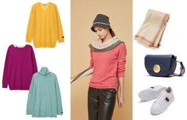 무채색 겨울 패션, 컬러 VS 체크