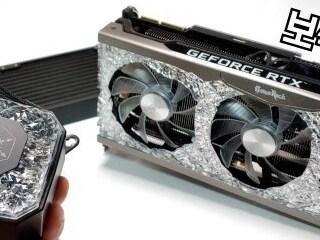 보석 수냉쿨러 실버스톤 IceGem 360 / CLC360 ML360R 온도 소음 비교 테스트 / 보석바 RTX 3090 셋트아이템