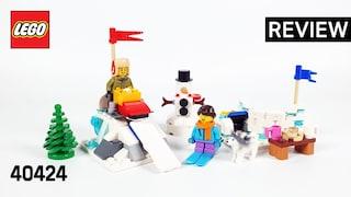 레고 시즈널 40424 겨울 눈싸움(LEGO Seasonal Winter Snowball Fight)  리뷰_Review_레고매니아_LEGO Mania