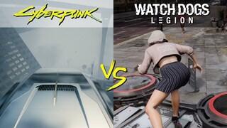자강두천? 2077년 게임 vs 2020년 게임 4K / Cyberpunk 2077 Physics vs. Watch Dogs Legion Physics