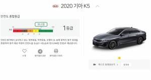 올해 일평균 230대씩 팔린 기아차 K5. 신차안전도평가 결과는?