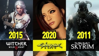 (ENG SUB) 가장 현실적인 마을은 어디일까? / The Witcher 3 vs. Cyberpunk 2077 vs. The Elder Scrolls V Skyrim NPC
