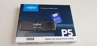 마이크론 Crucial P5 M.2 NVMe SSD 500GB 아스크텍 사용후기