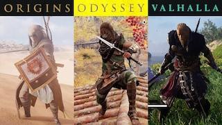 (ENG) 어크 시리즈 최고의 전투는? 4K / AC Origins Combat vs. AC Odyssey Combat vs. AC Valhalla Combat