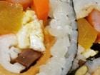 김밥에 토마토 치즈 파스타