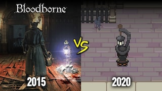 [ENG/4K] 매운맛 vs 순한맛 / Bloodborne (2015) vs. Bloodborne Yarntown (2020)