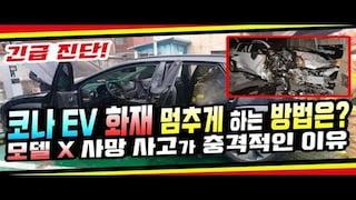 [긴급진단] 현대 코나EV 화재 멈추게 하는 방법은? 테슬라 모델 X 사망 사고가 충격적인 이유