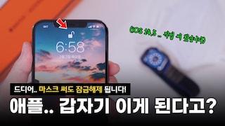애플.. 갑자기 이런 기능을?? 드디어 마스크 써도 아이폰 페이스ID 잠금해제 됩니다. 하지만.. ㅠㅠ | iOS 14.5 베타