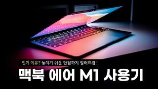 지렸다;; 인기 많은 이유가 있네요 | 애플 맥북 에어 M1 사용기. 놓치기 쉬운 단점까지 알려드려요! (ft 구매 가이드)