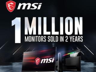 MSI코리아, 게이밍 모니터 누적 판매량 100만대 달성