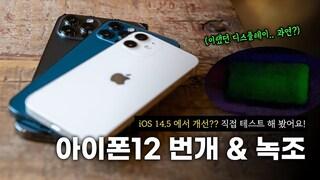 욕 먹던.. 그 불량 이슈 | 아이폰12 번개 & 녹조 개선? 직접 테스트 해 봤습니다 (iOS 14.5 베타2)