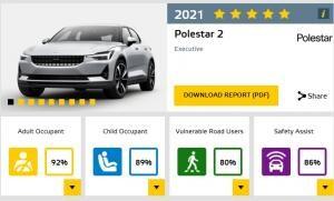 [EV 트렌드] 폴스타 2, 경쟁차 압도하는 충돌 안전성