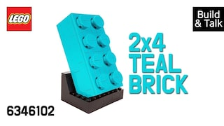 [조립&수다] 6346102 2X4 틸 브릭(VIP Buildable 2X4 Teal Brick)  레고매니아_LEGO Mania(Build & Talk)